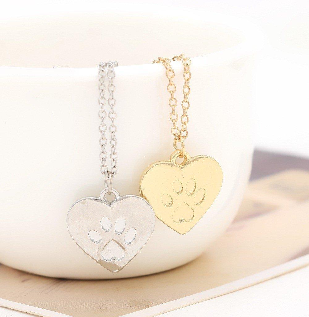 guld och silver tass halsband