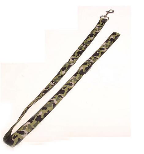 led hundkoppel grön camouflage