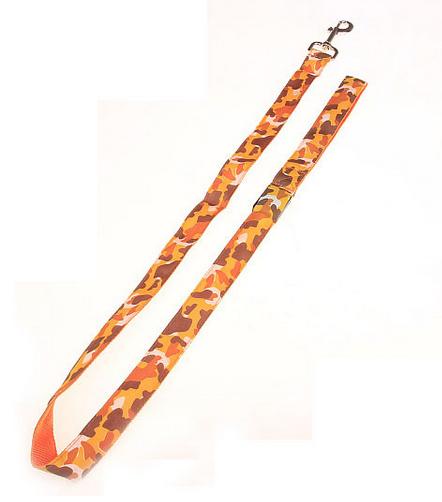 orange camouflage led hundkoppel