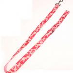 rosa camouflage led hundkoppel