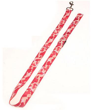 röd camouflage led hundkoppel