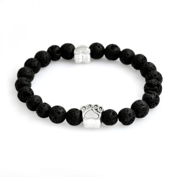 Tass  svart Lava sten armband
