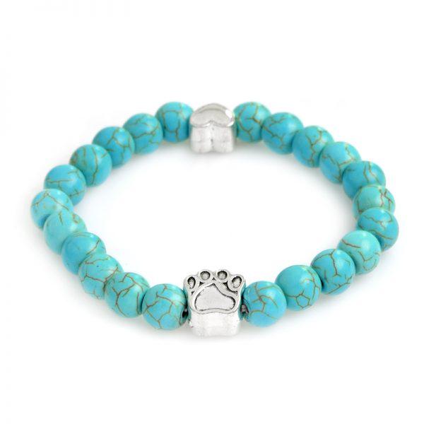 Tass blå marmorsten armband