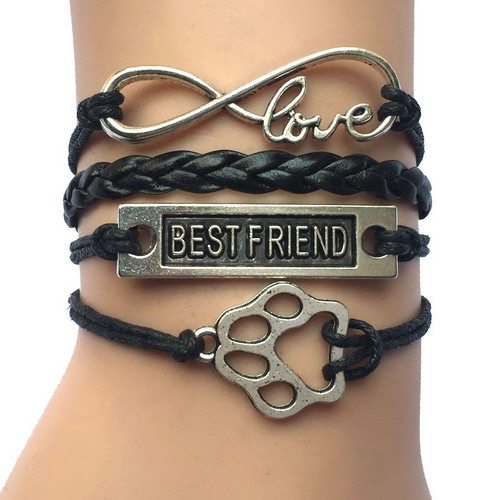 -10pcs-Lot-11-Colors-Mixed-Handmade-Leather-Wrap-Infinity-Love-Best-Friend-PAW-Charm-WRAP.jpg_640x640 (2)