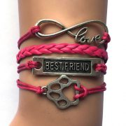 -10pcs-Lot-11-Colors-Mixed-Handmade-Leather-Wrap-Infinity-Love-Best-Friend-PAW-Charm-WRAP.jpg_640x640 (3)