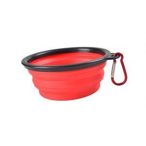 Röd silikon vattenskål