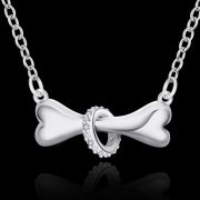 Hot-Paw-Silver-Necklace-Dog-Bone-Tag-18-inch-Pendant-Necklace-Doggie-Puppy-Pet-Wholesale-Jewelry